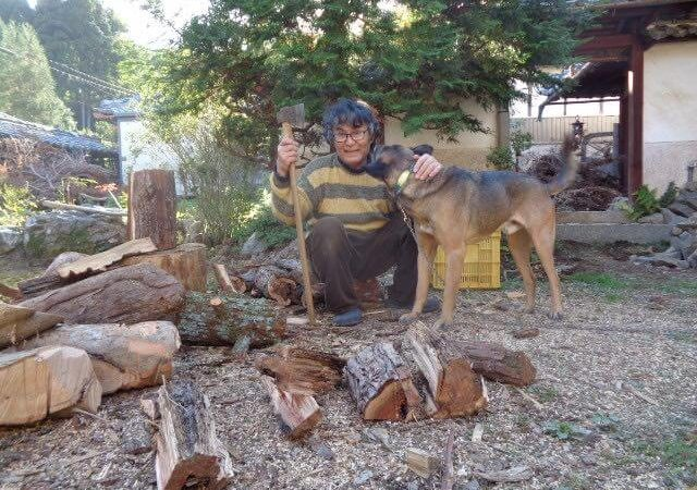 JAFAREC Ten-Sho-An chopping woods and dog Neo