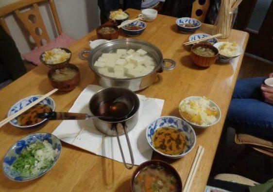 JAFAREC Workshop lunch tofu