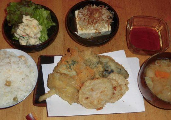 shelter dinner tempura