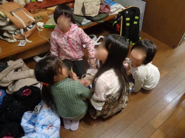 Children at Men's workshop JAFAREC