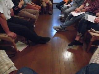 JAFAREC Men's non-violent workshop circle chat 2017