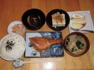 JAFAREC Shelter set meal with braised red fish and simmered furobuki daikon radish