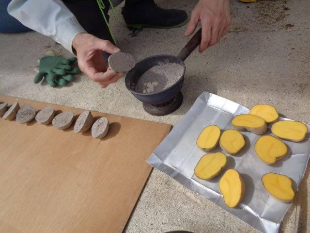 JAFAREC Ten-Sho-An Inka potatoes ashing