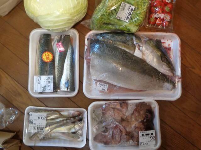 Three kilograms of natural yellowtail for 980 yen