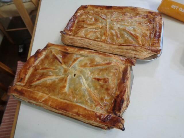an apple pie